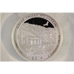 2014-S SILVER GREAT SMOKEY MT. N.P. QUARTER ANACS