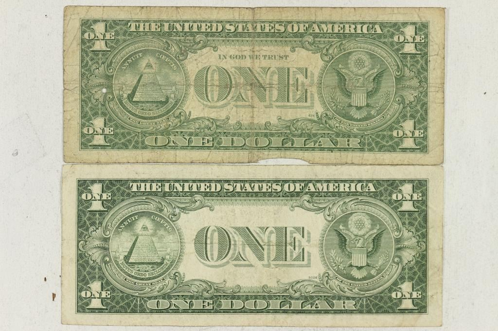 1935-D & 1957-B $1 SILVER CERTIFICATES STAR NOTES