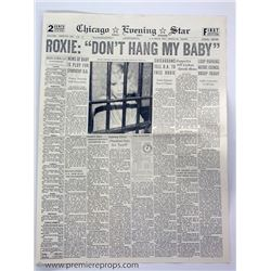 Chicago Roxie Don't Hang My Baby Newspaper Movie Props