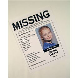 Prisoners Anna Dover Missing Flyer Movie Props