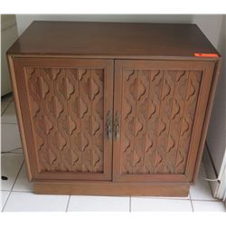 Carved Wood Cabinet (Plates/Dishes Not Included) 2'8 X 1'6