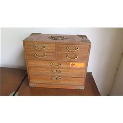 Japanese 7-Drawer Jewelry Chest with Lined Drawers
