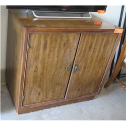 "Large Wood Cabinet, 30""x32""x18"