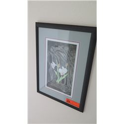 "Framed Art - Orchid Painting ""Ola Hou"" Series, Original Signature, S. Hasinyager"