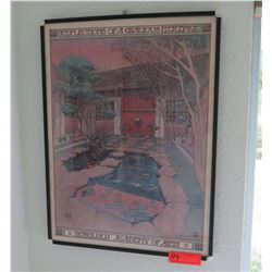 "Framed Poster ""Reflections of a Gracious Heritage"" 18.5 x 24.5 Honolulu Academy of Arts"