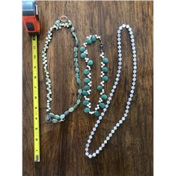 (Just added April 20) Qty 3 Necklaces - Semi-Precious Stones, Pearls, etc.