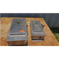 2 Square D Safety Switches. One 100 AMP and One 200 AMP