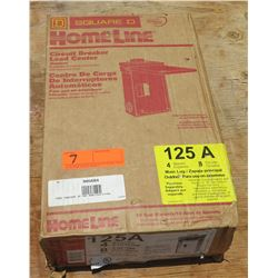 Square D Homeline Circuit Breaker Load Center 125AMP