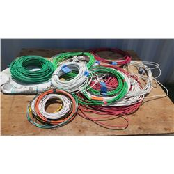 Lot of United Encore Industries Cables/Wire - Various Lengths & Sizes