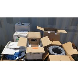 Various Spools of Coated Wiring/Cables - Various Types (Coaxial, etc.)