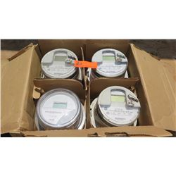 Qty 4 GE and Itron Meters - Various Sizes