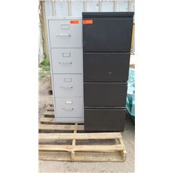 2PC 4 Drawer Filing Cabinets