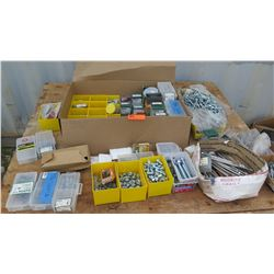 Large Lot of Nuts, Bolts, Screws, Washers, etc.