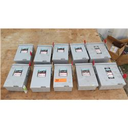 Siemen's General Duty Enclosed Switch 8PC 60AMP and 2PC 30AMP