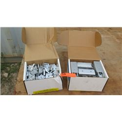 "1 each Box of Rail Channel Nuts (P-CN-200) and Rail Splice (A-SPLICE-20, 1 1/2"" and 2 1/2"")"