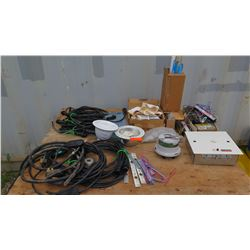 Various Wires, Cables, Connectors, Fuses and Meters