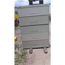 5-Drawer Lateral Metal Filing Cabinet