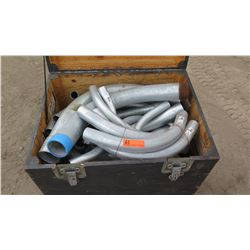 Trunk of Various Length Curved Metal Pipe
