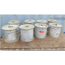 8 Spools of Plenum Cable RG59U&18/2 CCTV CMP 5C RL NAT
