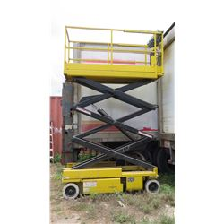 GROVE SM2632E ELECTRIC SCISSOR LIFT -Platform Height: 26 ft (Works May Need New Batteries)