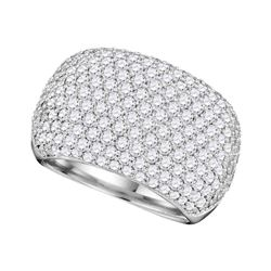 2.8 CTW Diamond Ring 14KT White Gold - REF-420X2Y