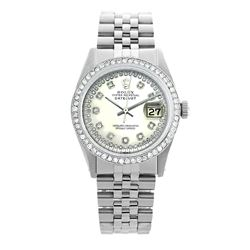 Rolex Pre-owned 36mm Mens String Silver Dial Stainless Steel - REF-610Y3W