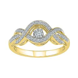 0.25 CTW Diamond Solitaire Bridal Wedding Engagement Ring 10KT Yellow Gold - REF-34M4H