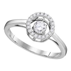 0.18 CTW Diamond Solitaire Bridal Wedding Engagement Ring 10KT White Gold - REF-26N3F