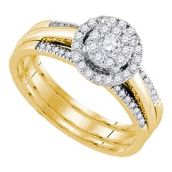 0.50 CTW Diamond Bridal Wedding Engagement Ring 14KT Yellow Gold - REF-71N9F