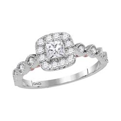0.75 CTW Princess Diamond Solitaire Bellina Bridal Ring 14KT Two-tone Gold - REF-104N9F