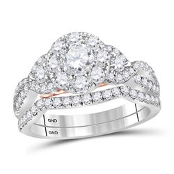 1.5 CTW Diamond Bellissimo Bridal Engagement Ring 14KT White Gold - REF-209Y9X