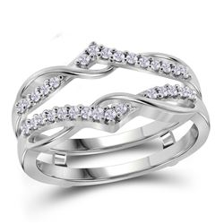 0.25 CTW Diamond Wrap Ring 10KT White Gold - REF-30M2H