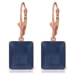 Genuine 14 ctw Sapphire Earrings Jewelry 14KT Rose Gold - REF-121K7V