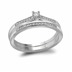 0.14 CTW Diamond Bridal Wedding Engagement Ring 10KT White Gold - REF-22M4H