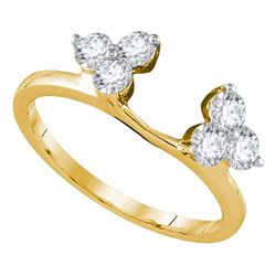 0.75 CTW Diamond Ring 14KT Yellow Gold - REF-82M4H