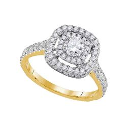 0.89 CTW Diamond Solitaire Bridal Engagement Ring 14KT Yellow Gold - REF-142F4N