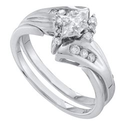 0.25 CTW Marquise Diamond Bridal Engagement Ring 10KT White Gold - REF-34Y4X