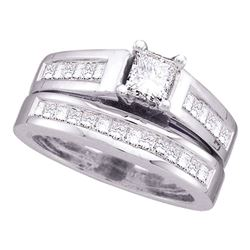 2 CTW Princess Diamond Bridal Engagement Ring 14KT White Gold - REF-352H4M
