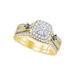 1 CTW Diamond Bridal Wedding Engagement Ring 14KT Yellow Gold - REF-149F9N