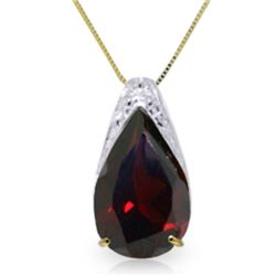 Genuine 5 ctw Garnet Necklace Jewelry 14KT Yellow Gold - REF-37W4Y