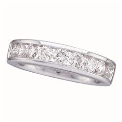 0.15 CTW Diamond Wedding Ring 14KT White Gold - REF-22H4M