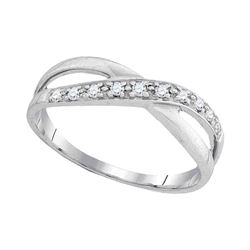 0.11 CTW Diamond Ring 10KT White Gold - REF-11N2F