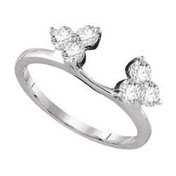 0.75 CTW Diamond Ring 14KT White Gold - REF-82N4F