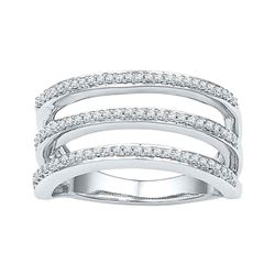 0.25 CTW Diamond Ring 10KT White Gold - REF-34H4M