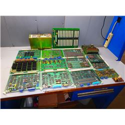 MITSUBISHI MISC. LOT CIRCUIT BOARDS AND POWER SUPPLY   *** SEE PICS!!!