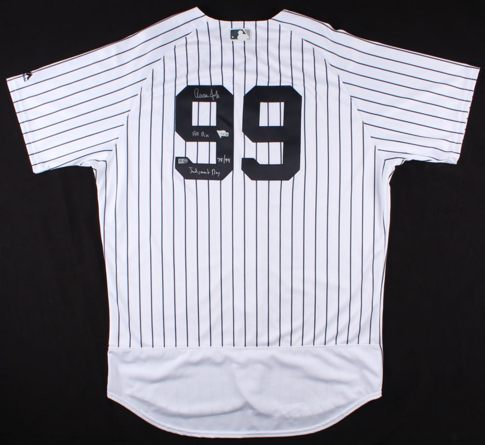 Image 1   Aaron Judge Signed LE Yankees Jersey Inscribed