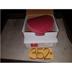 "Box of Carborundum Abrasives 6"" disc Grip-On Gr.80"