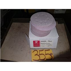 "Box of Carborundum Abrasives 5"" disc Vacuum Grip-On Gr.P120"