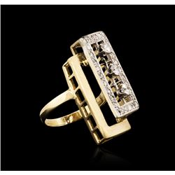 14KT Yellow Gold 1.04 ctw Diamond Ring