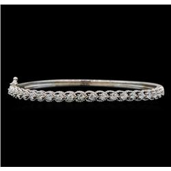 14KT White Gold 1.33 ctw Diamond Bracelet